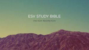 ESV One Year Reading Plan